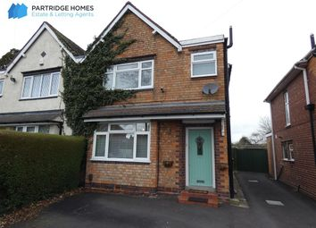 Thumbnail 3 bed semi-detached house for sale in Hermitage Road, Solihull, Solihull