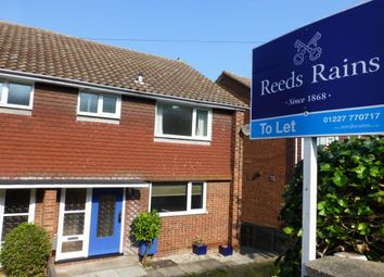Thumbnail 3 bed semi-detached house to rent in West Cliff, Whitstable