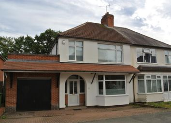 Thumbnail 3 bed semi-detached house for sale in Grange Avenue, Leicester Forest East, Leicester