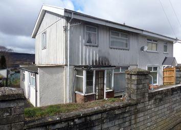 Thumbnail 3 bed semi-detached house for sale in Jones Terrace, Twynyrodyn, Merthyr Tydfil