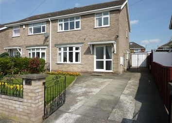 Thumbnail 3 bed semi-detached house for sale in Gedney Close, Wybers Wood, Grimsby