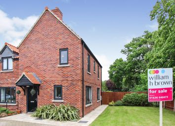 Thumbnail 2 bed semi-detached house for sale in St Helens Close, Brant Broughton, Lincoln