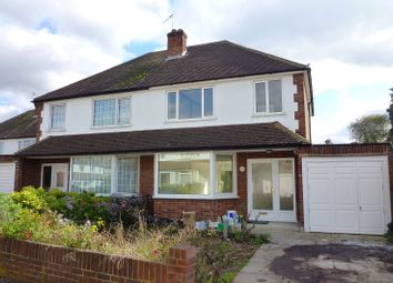 Thumbnail 3 bed semi-detached house to rent in Cumberland Drive, Chessington