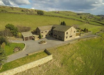 Thumbnail 5 bed detached house for sale in Eaves House, Stocks Lane, Luddenden