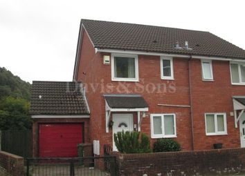 Thumbnail 2 bed semi-detached house for sale in Park Street, Cwmcarn, Newport.