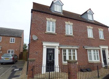 Thumbnail 4 bed semi-detached house for sale in Attenborough Close, Wigston, Leicestershire, Leicester