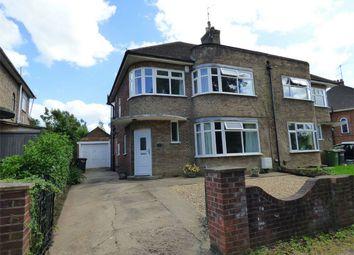 Thumbnail 3 bed semi-detached house for sale in Oundle Road, Orton Longueville, Peterborough, Cambridgeshire