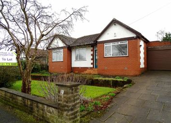Thumbnail 3 bed bungalow to rent in Delamere Avenue, Whitefield, Whitefield Manchester