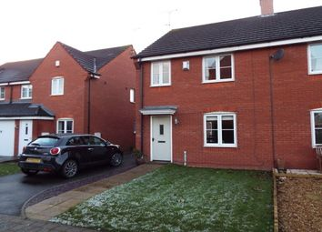 Thumbnail 3 bed semi-detached house to rent in Russell Close, Uttoxeter