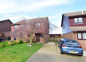 Thumbnail 3 bed semi-detached house for sale in Cricketers Close, Hawkinge, Folkestone, Kent