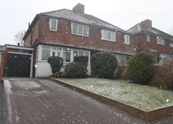 Thumbnail 3 bed semi-detached house to rent in Ulverley Crescent, Solihull
