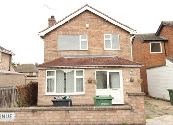 Thumbnail 3 bed detached house to rent in Elwin Avenue, Wigston, Leicester