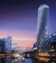 Thumbnail 2 bed flat for sale in Crossharbour Plaza, Canary Wharf
