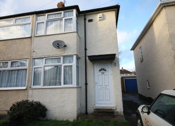 Thumbnail 2 bedroom semi-detached house to rent in Fourth Avenue, Sundon Park, Luton