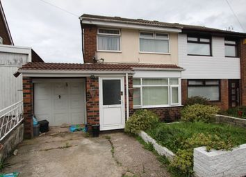 Thumbnail 3 bed semi-detached house for sale in Newlyn Grove, Laffak, St Helens, Merseyside