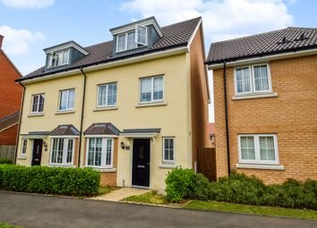 Thumbnail 4 bed semi-detached house for sale in Hundred Acre Way, Red Lodge, Bury St. Edmunds