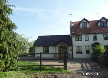 Thumbnail 3 bed end terrace house to rent in Chediston, Halesworth