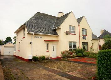 Thumbnail 3 bed semi-detached house for sale in St. Quivox Road, Prestwick