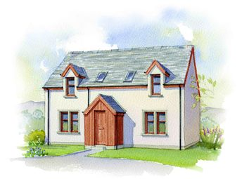 Thumbnail 3 bed detached house for sale in Strone Coire, Bridge Of Cally, Blairgowrie