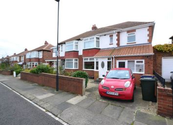 Thumbnail 3 bedroom semi-detached house for sale in Heathdale Gardens, High Heaton, Newcastle Upon Tyne