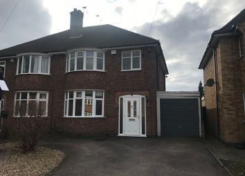 Thumbnail 1 bed semi-detached house to rent in Kirkstone Avenue, Glenfield, Leicester