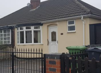 Thumbnail 2 bed bungalow to rent in Hannah Road, Bilston