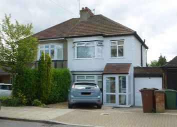 Thumbnail 3 bed semi-detached house to rent in Lyndhurst Avenue, Pinner