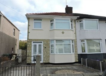 Thumbnail 3 bed semi-detached house to rent in Eccleshall Road, Wirral, Merseyside