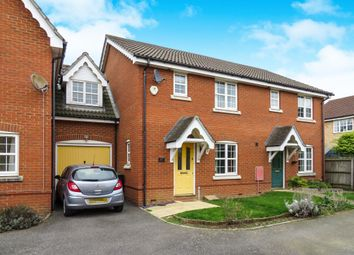 Thumbnail 3 bed link-detached house for sale in Blackbird Way, Stowmarket