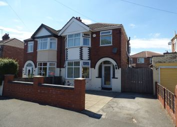 Thumbnail 3 bed semi-detached house to rent in Old Hall Road, Stretford, Manchester