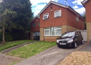 Thumbnail 3 bed detached house to rent in Doulton Close, Quinton, Birmingham