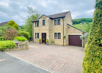 Thumbnail 4 bed detached house for sale in Carr Field Drive, Luddenden, Halifax