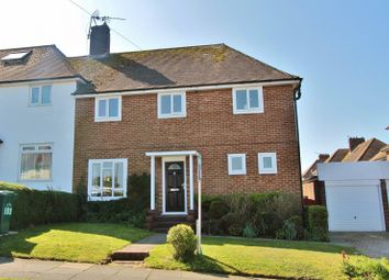 Thumbnail 3 bed semi-detached house to rent in Woodbourne Avenue, Hollingbury, Brighton