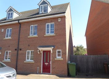 Thumbnail 3 bed town house for sale in Deer Valley Road, Sugar Way, Peterborough
