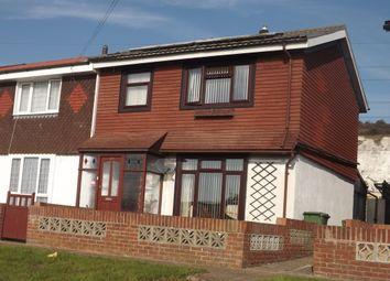 Thumbnail 3 bed end terrace house for sale in Deerhurst Crescent, Cosham, Portsmouth