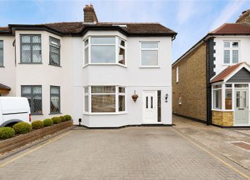 Thumbnail 4 bed semi-detached house for sale in Melstock Avenue, Upminster