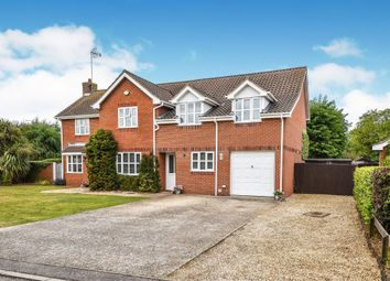 Thumbnail 5 bed detached house for sale in Hugh Close, North Wootton, King's Lynn