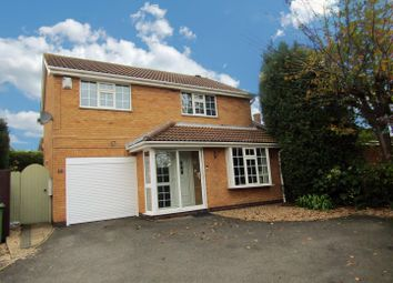Thumbnail 4 bed detached house for sale in Primrose Close, Narborough, Leicester