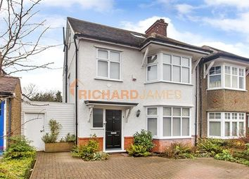 Thumbnail 4 bed semi-detached house for sale in Manor Drive, London