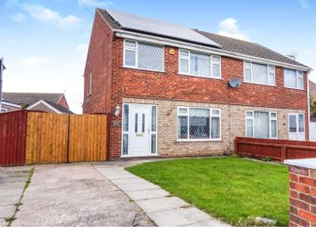 Thumbnail 3 bed semi-detached house for sale in Timberley Drive, Wybers Wood, Grimsby