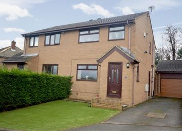 Thumbnail 3 bed semi-detached house for sale in Greenside Avenue, Waterloo, Huddersfield, West Yorkshire