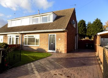 Thumbnail 2 bed semi-detached house for sale in Newholme Drive, Moorends, Doncaster