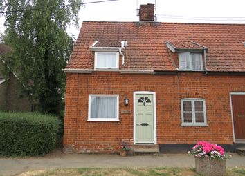 Thumbnail 2 bed end terrace house for sale in The Street, Stanton, Bury St. Edmunds