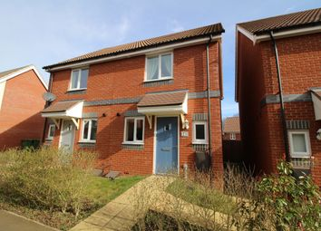 Thumbnail 2 bed semi-detached house to rent in Waxwing Way, Costessey, Norwich