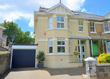 Thumbnail 4 bed semi-detached house for sale in Russell Avenue, Mannamead, Plymouth