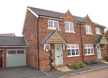 Thumbnail 3 bed semi-detached house for sale in Kent Way, Church Gresley, Swadlincote, Derbyshire