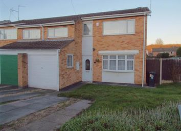 Thumbnail 3 bedroom semi-detached house for sale in Wylam Close, Leicester, Leicestershire