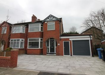 Thumbnail 3 bed semi-detached house to rent in Fairholme Avenue, Urmston, Manchester