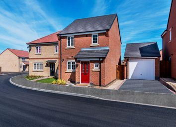 Thumbnail 3 bed detached house for sale in Bridgemere Close, Leicester