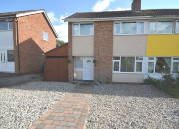 Thumbnail 3 bedroom semi-detached house for sale in Yarwell Drive, Wigston, Leicester